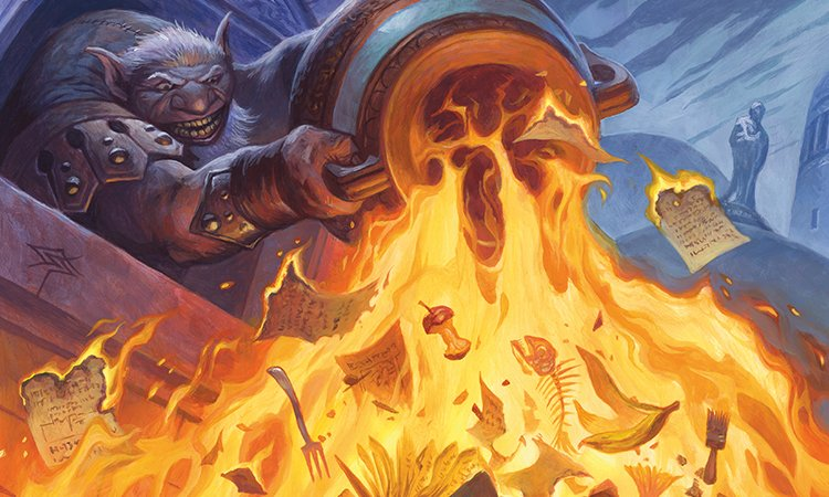 Image result for garbage fire magic art